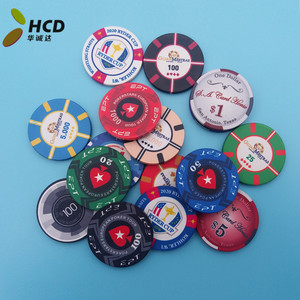 China factory poker chip direct ceramic poker chip can be customized ceramic size 39MM with your logo