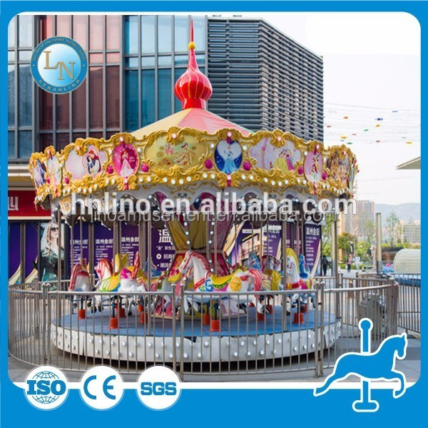 Importer amusement park rides! LINO kids merry go round carousel rides for sale