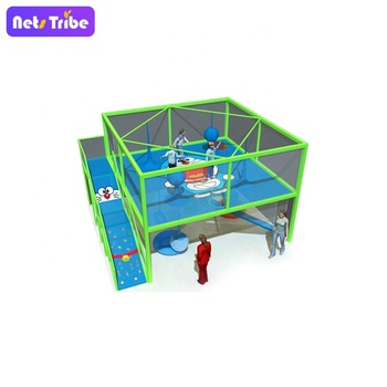 Binzhou Netstibe Indoor Amusement Playground--Professional Crochet Rainbow Trampoline  Climbing Net for Kids