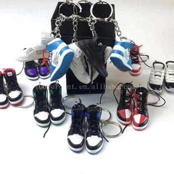 Best quality mini pvc 3d sneaker keychain as promotion gift for nike/yeezy/air jordan