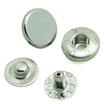 484# 486# 488#nickel free silver Cap Spring Snap Button For Garment