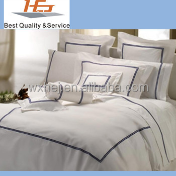 High Quality 100 Cotton White Embroidered Duvet Cover