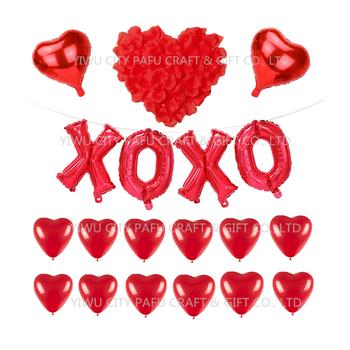 Wholesale Wedding Decoration Heart Shape Balloon Rose Petal Flower