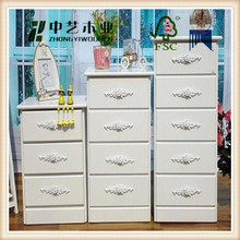 Trade assurance white colour paulownia cabinet classic wood bedroom furniture