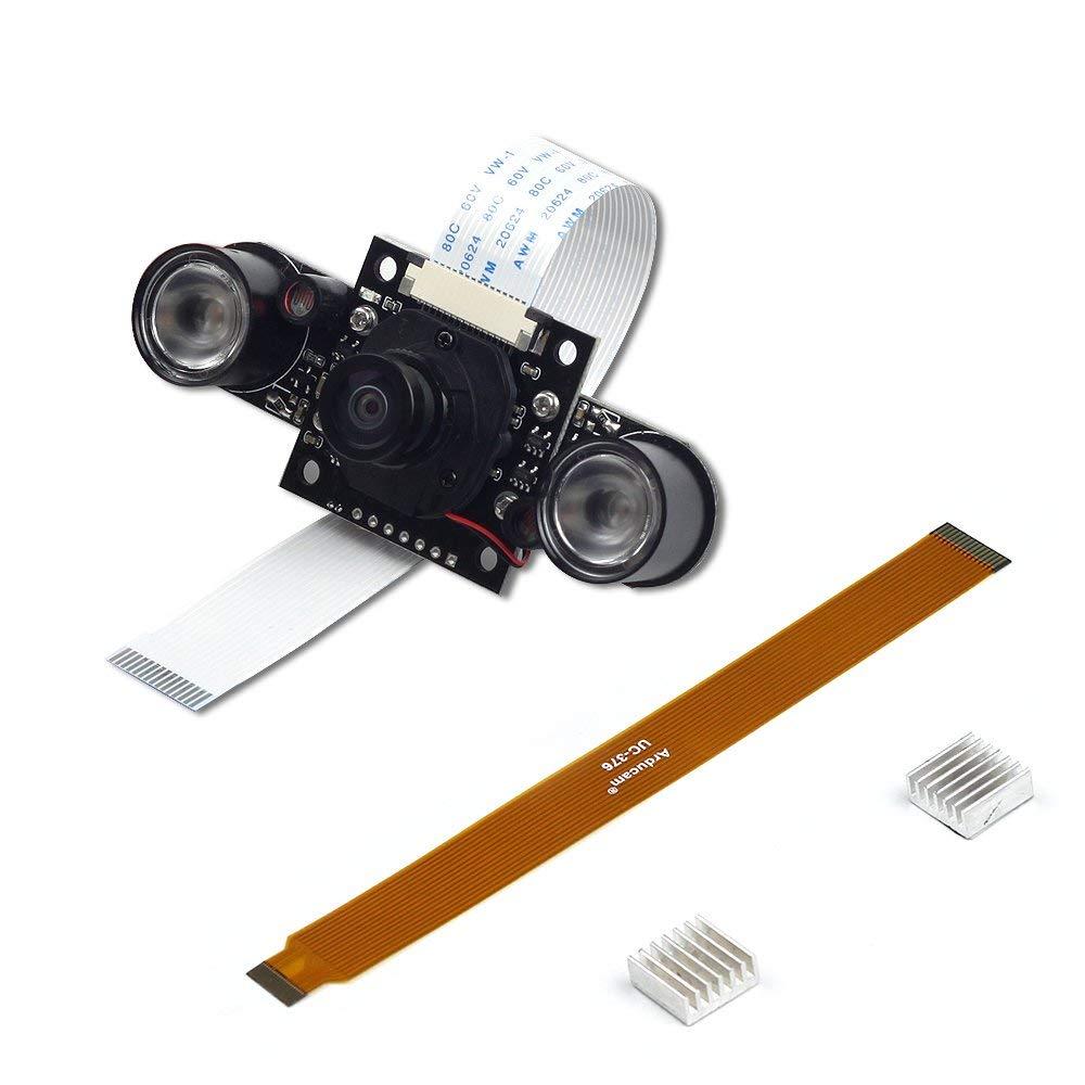 Arducam 5MP OV5647 Camera Module Motorized IR-CUT Filter for Daylight and Night vision Support for Raspberry Pi Zero,Pi3b+,Pi3, Pi B/2B/B/B+/A