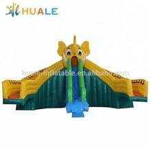 Outdoor giant inflatable water slide,Elephant inflatable water slide for inflatable pool
