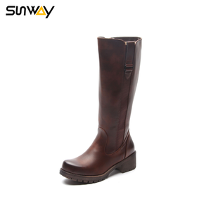 SUNWAY Chinese Factory Fashion Women Knee High Boots