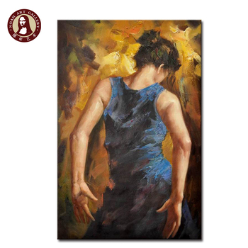 Espagnol Sexe Femmes Danse Toile Art Dame Danseuse De Flamenco Peinture Murale à L Huile Buy Danse Dame Peinture Flamenco Danse Peinture à