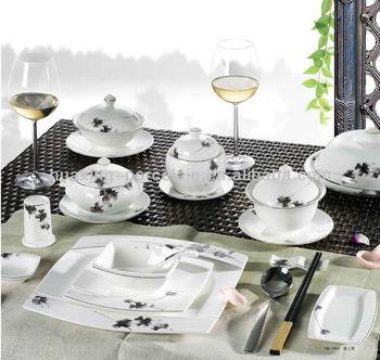 elegance fine decal porcelain used restaurant dinnerware with semigloss flower design & Elegance Fine Decal Porcelain Used Restaurant Dinnerware With ...