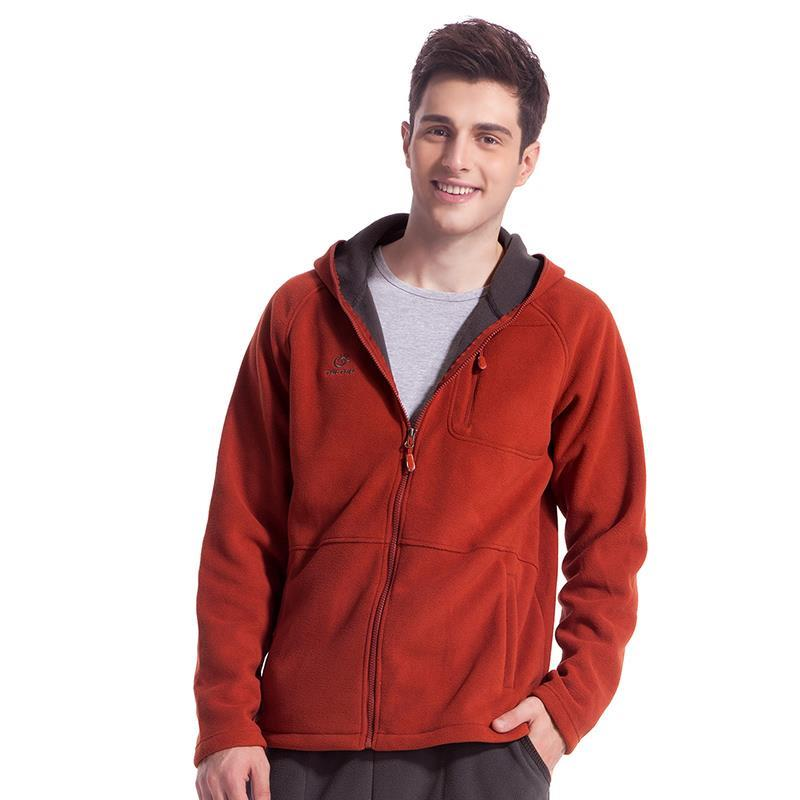 brand casual Outdoor sport running polar fleece windproof thermal hooded cardigans Autumn and winter male mens for man