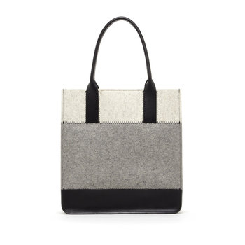 Handmade Grey Tote Shoulder Bag Women s Wool Felt Handbag ... c0c5df7bd0