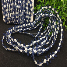 roses crafting scrapbooking rosette ribbon upholstery navy rose bud chain rosebud braid trims