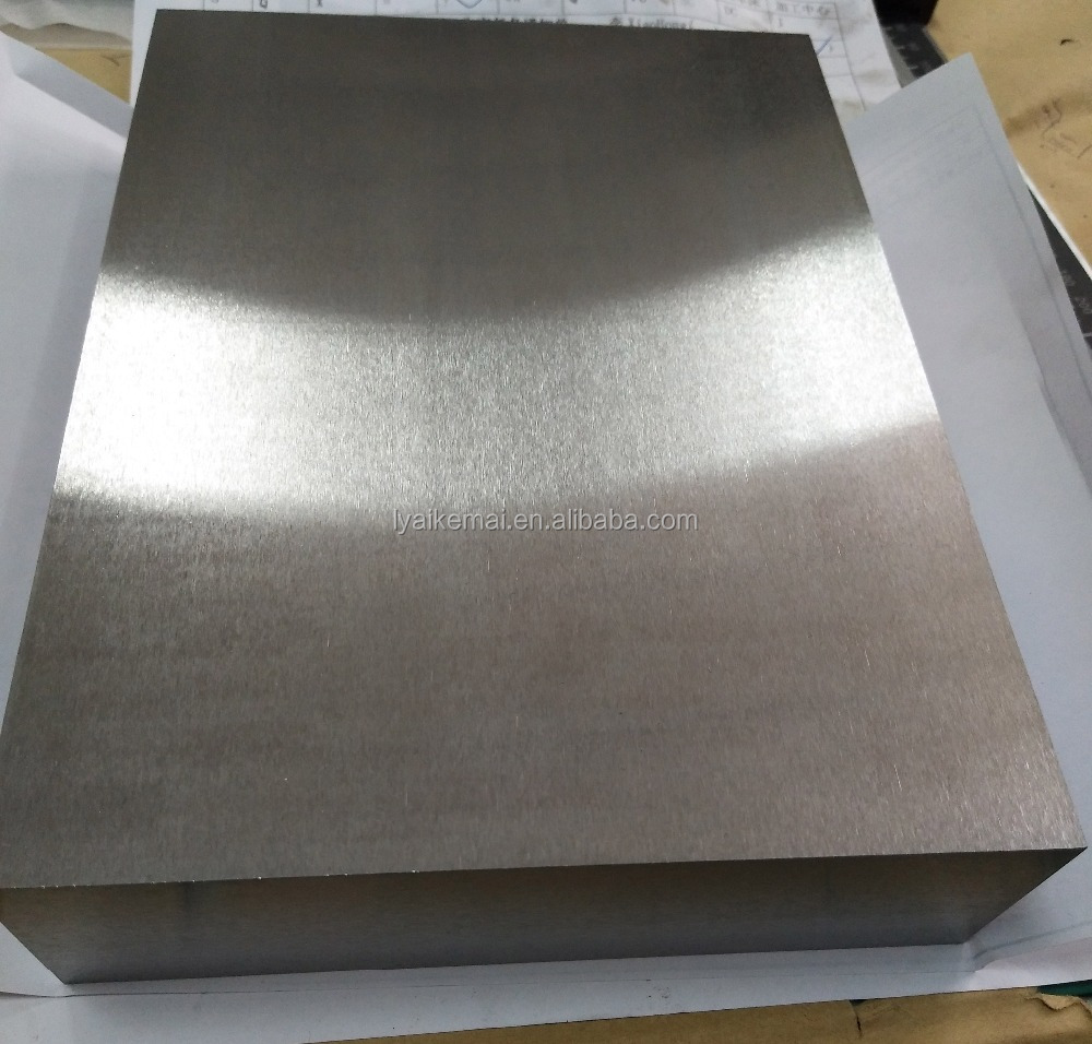 Achemetal high density polished TZM blcok