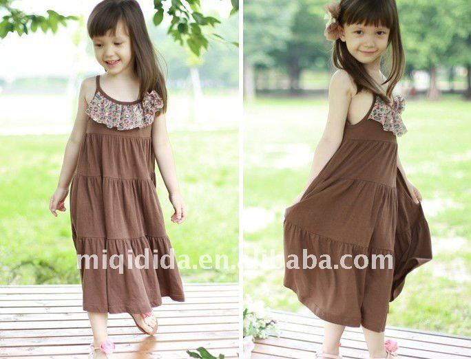 OEM/beautiful girl's camisole dress/2-12years old/latest design