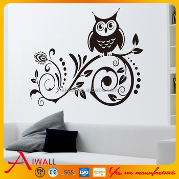 8239 art characters owl wall stickers wall decals whiteboard wall