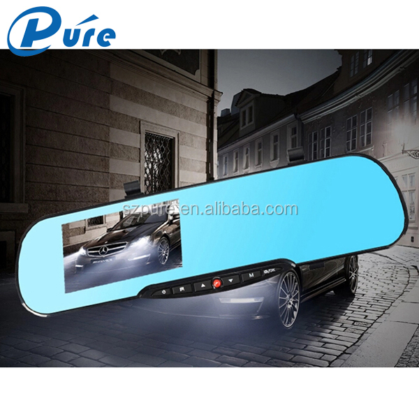 Hot Selling Black Box Car Video Recorder Rearview Car DVR 4.3 Inch Dual Lens FHD Mp4 Vehicle Recorder