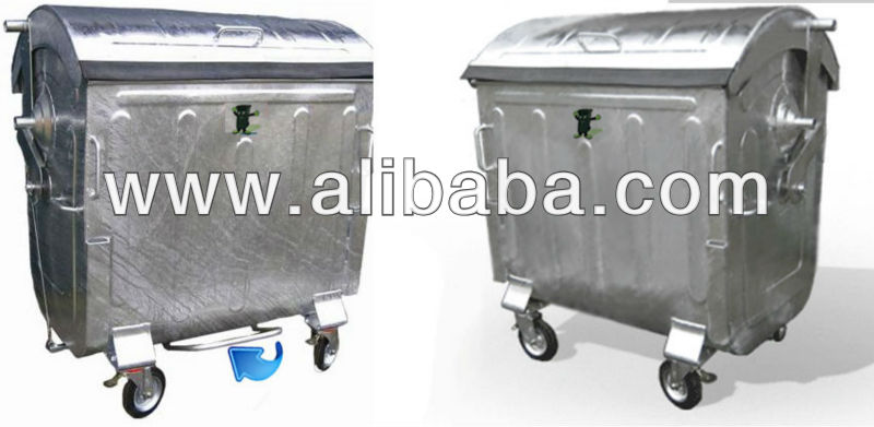 Galvanized Waste Container (1100 Lt)