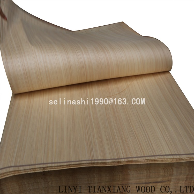 engineered white/ red face wood veneer Linyi manufacture