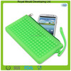 Eco-friendly material silicone jelly mobile phone pouch,silicone coin bag