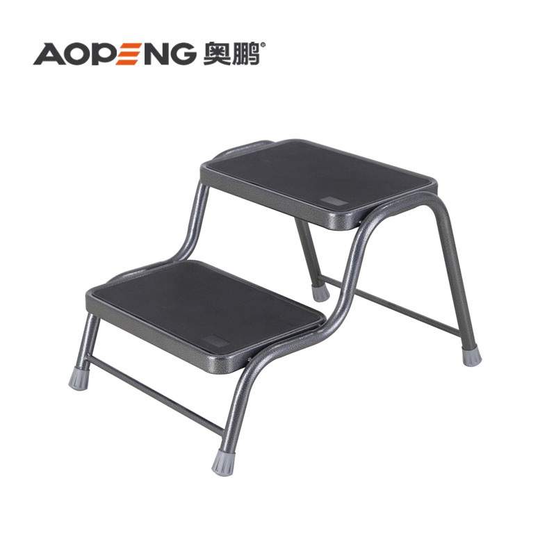 TUV GS Step Steel Ladder Stool Footstool with Non Skid Rubber PlatformAP-1002