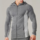 Wholesale men tapered fit gym hoodies top full length zip sport muscle hoodies