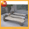 Natural stone garden bench with metel leg for outdoor furniture