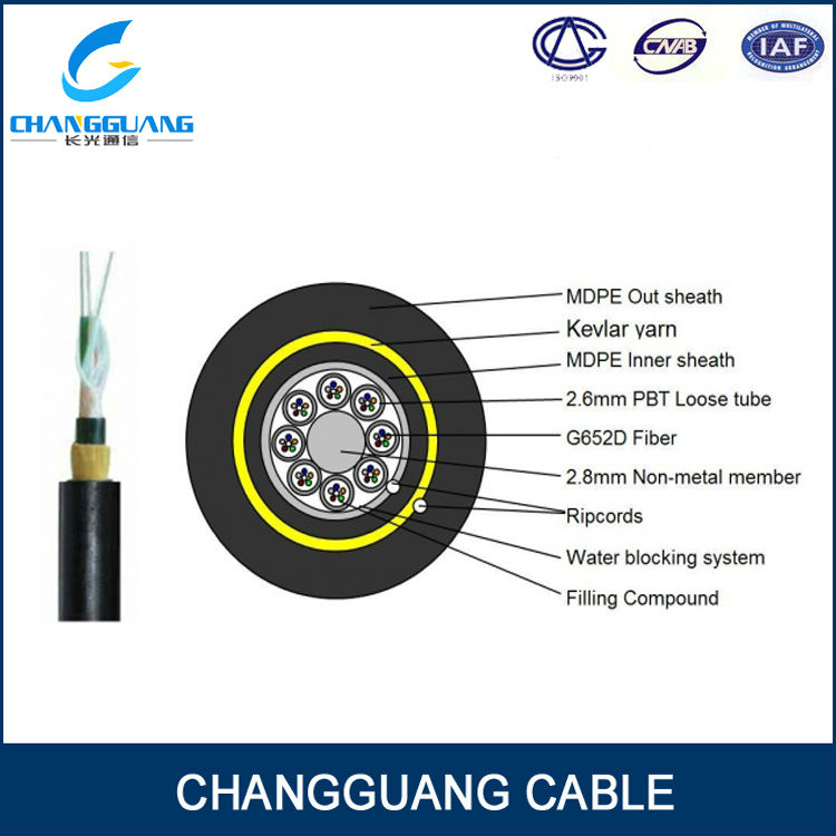 2014 NEW ADSS fiber optic cable/Non-metallic construction design/low loss,low dispersion/strong resisting capability