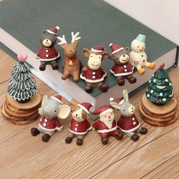 resin animated christmas bear figures