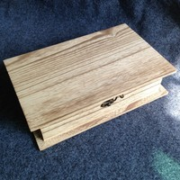 Special Book Shape Wooden Box With Vintage Color Wood Gift Box