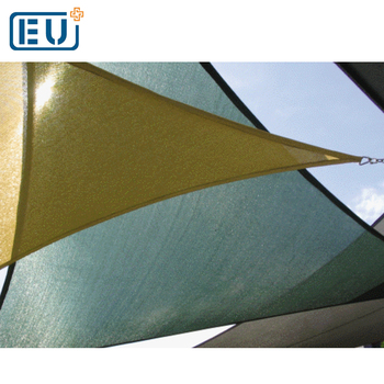100% virgin HDPE material PE outdoor application triangle sun protective net /pool shade sail