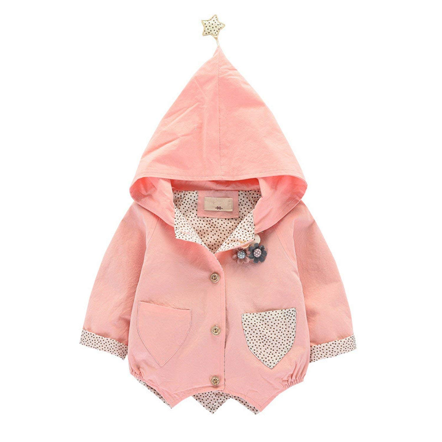 634fb106b Get Quotations · Samuel Roussel Spring Cute Children'S Windbreakers Girls  Jackets Baby Girl Coat Infant Outfit