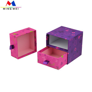 cosmetic storage box drawer jewelry gift box custom printed wrapping paper box