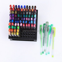 New Design Good Quality 100 Colors Gel Pens with Plastic Stand