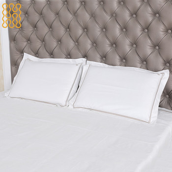 Home textile cotton bed sheet embroidery design luxury bedding set