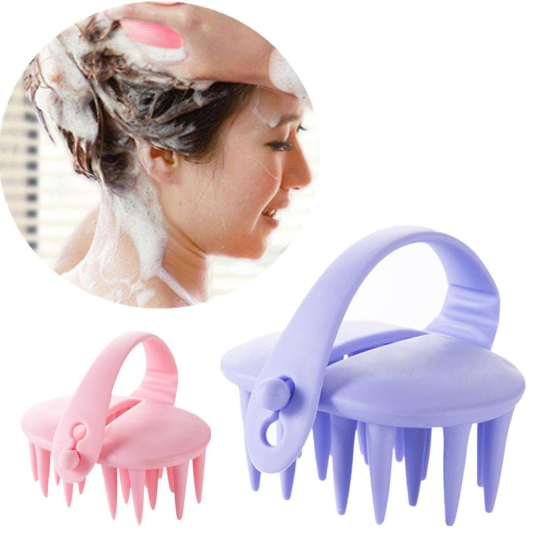 Hair Scalp Massager Shampoo Brush, Botrong 1 Piece Scalp Care Brush Body Washing Massager Comb Conditioner Clean Head Care Random Color