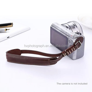 super september top quality universal camera photo accessories adjustable pu leather dslr camera wrist strap