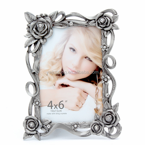mother of pearl custom metal open hot sell zinc alloy metaly college girl frame photo