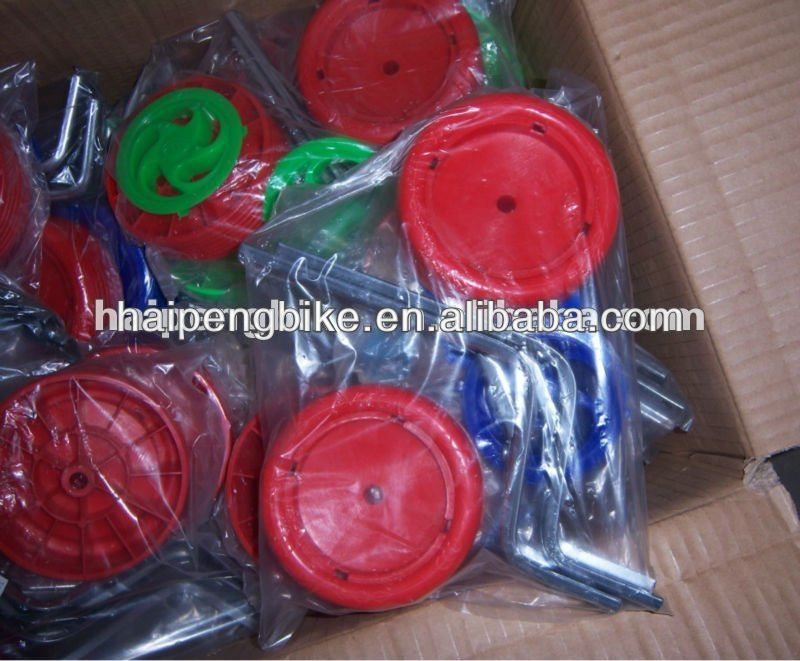 2018 new kids bike training wheel bicycle parts factory