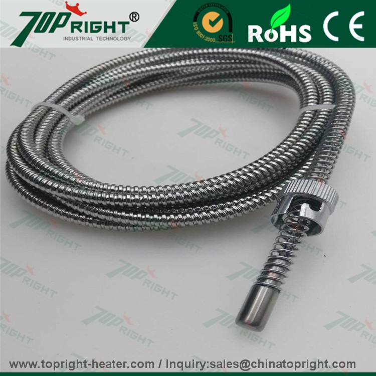 Teflon PFA high temperature stand omega J type thermocouple green connector with plug for industrial use