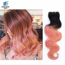 New Coming Top Quality Female Star 1b/Pink Ombre Hair Extensions