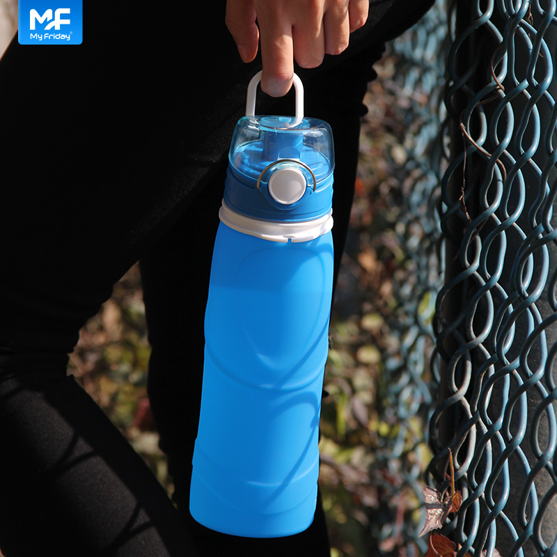 Cold drink thermal drinking factory silicone water bottle