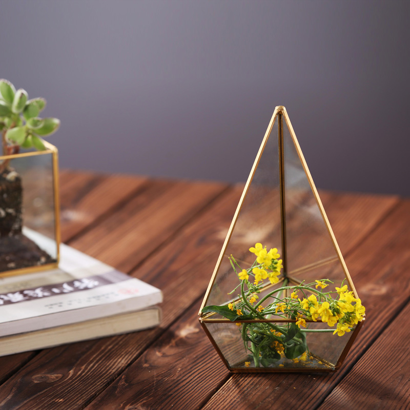 Hot Selling Geometric Glass Terrarium For Wedding Table Centerpieces