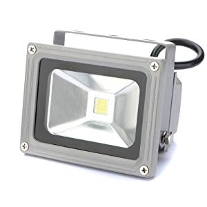 E-Age 10W Watt LED Pure White Flood Spot Light Outdoor Garden Landscape Lamp Bulb Spotlight Security Floodlight Home Waterproof High Power 85-265V