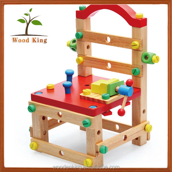 Magnificent Children Educational Dismantling Work Tool Chair Diy Kit Toys Kids 3D Puzzle Wood Toy Kits Buy Wood Toy Kits Diy Toy Diy Puzzle Product On Caraccident5 Cool Chair Designs And Ideas Caraccident5Info