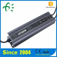 wholesale high power 200W led driver waterproof 12V/24VDC led driver with CE RoHS