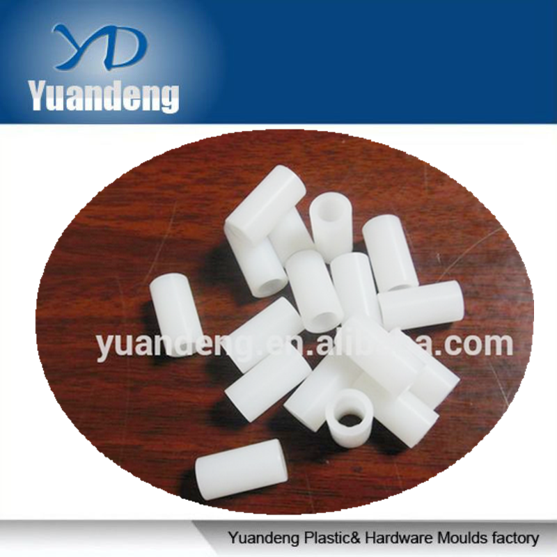 white nylon round plastic spacer