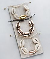 Artilady Natural Cowrie Shell Bracelets Handmade Boho White Seashell Bracelet for Women Summer Beach Jewelry Gift Party