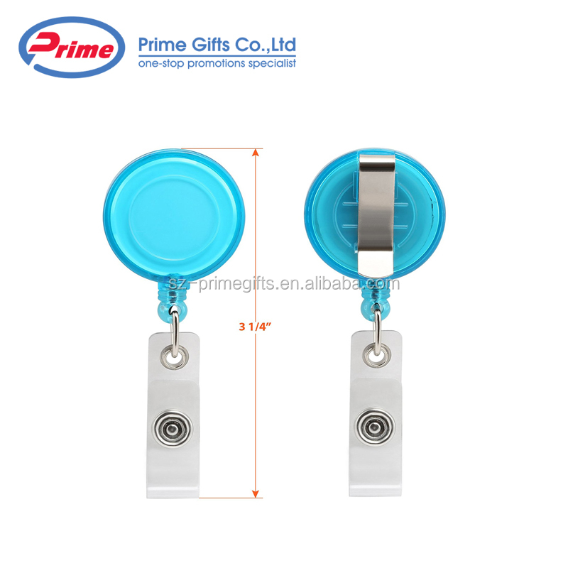 Promotional Cheap Id Badge Reel Metal Retractable Badge Holder With Metal Clip