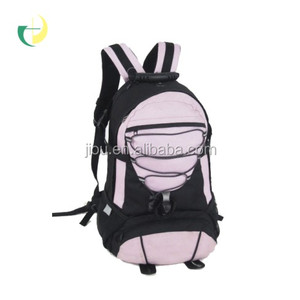 The back grid support polyester brand New design leisure cute pink backpack