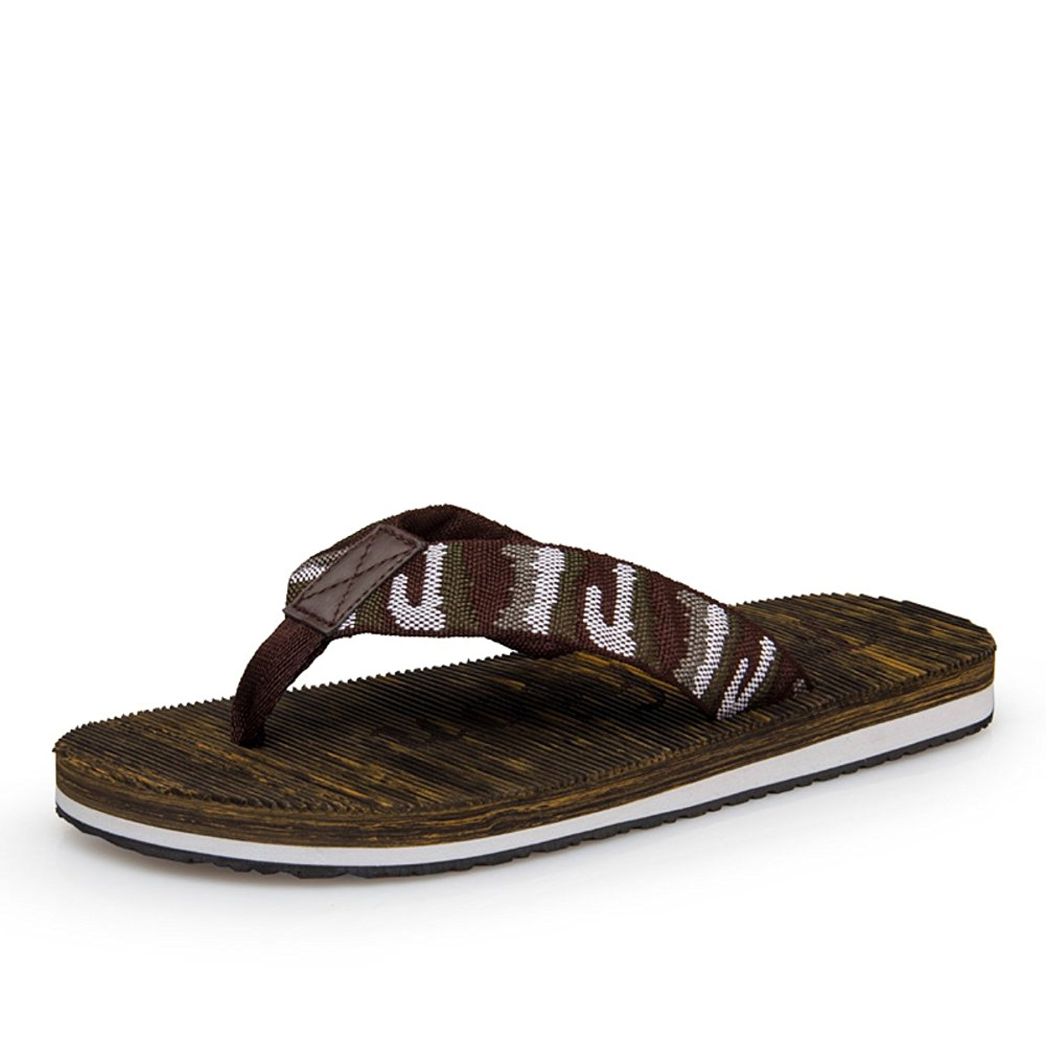 ecdc55440a04 Get Quotations · Summer heavy-bottomed slippers Mens England slip flip flops Camouflage  personalized slippers